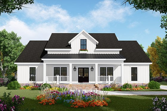 Country Exterior - Front Elevation Plan #21-444