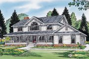 Country Style House Plan - 4 Beds 3 Baths 2647 Sq/Ft Plan #312-576 Exterior - Other Elevation