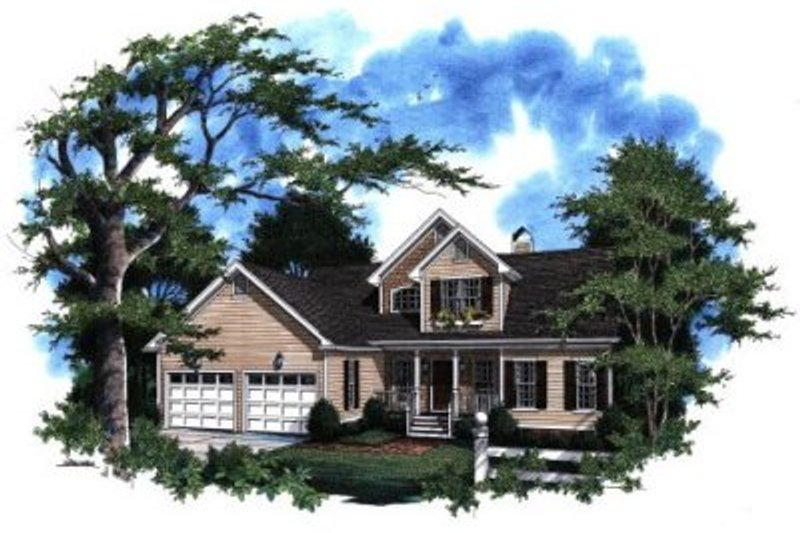 Traditional Exterior - Front Elevation Plan #41-123 - Houseplans.com