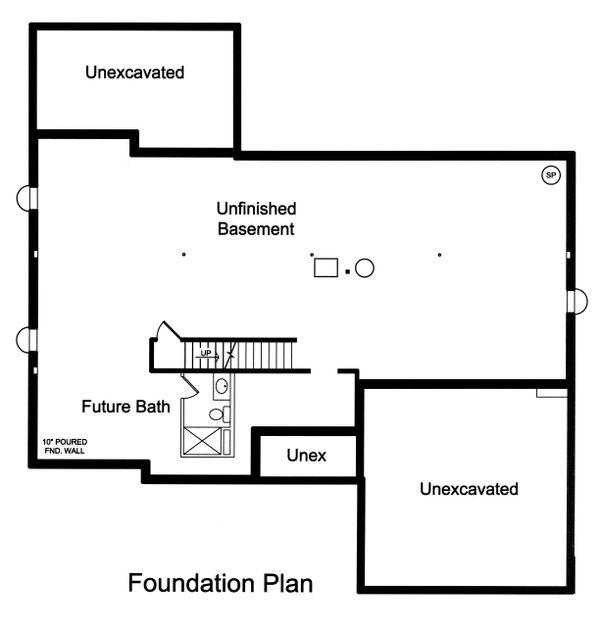 House Plan Design - Unfinished Basement Foundation