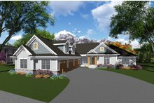 Dream House Plan - Craftsman Exterior - Front Elevation Plan #70-1282