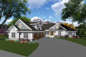 Craftsman Exterior - Front Elevation Plan #70-1282