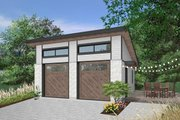 Contemporary Style House Plan - 0 Beds 0 Baths 624 Sq/Ft Plan #23-2636