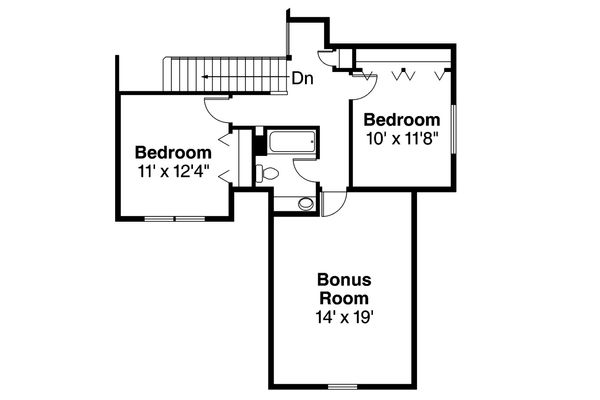 Traditional Floor Plan - Upper Floor Plan Plan #124-921