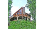Log Style House Plan - 3 Beds 2 Baths 1601 Sq/Ft Plan #456-3 Exterior - Rear Elevation