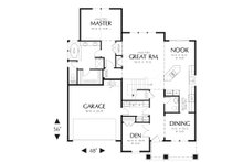 Craftsman Floor Plan - Main Floor Plan Plan #48-553