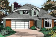 Traditional Style House Plan - 3 Beds 2.5 Baths 1996 Sq/Ft Plan #90-203 Exterior - Front Elevation