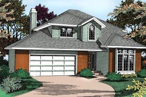 Traditional Exterior - Front Elevation Plan #90-203