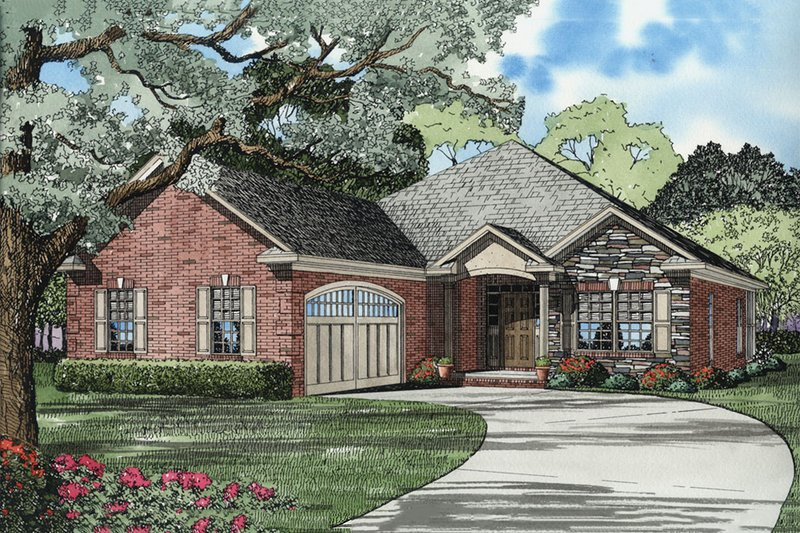 Dream House Plan - Traditional Exterior - Front Elevation Plan #17-2275