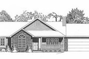 Traditional Style House Plan - 3 Beds 2 Baths 1283 Sq/Ft Plan #58-130 Exterior - Front Elevation