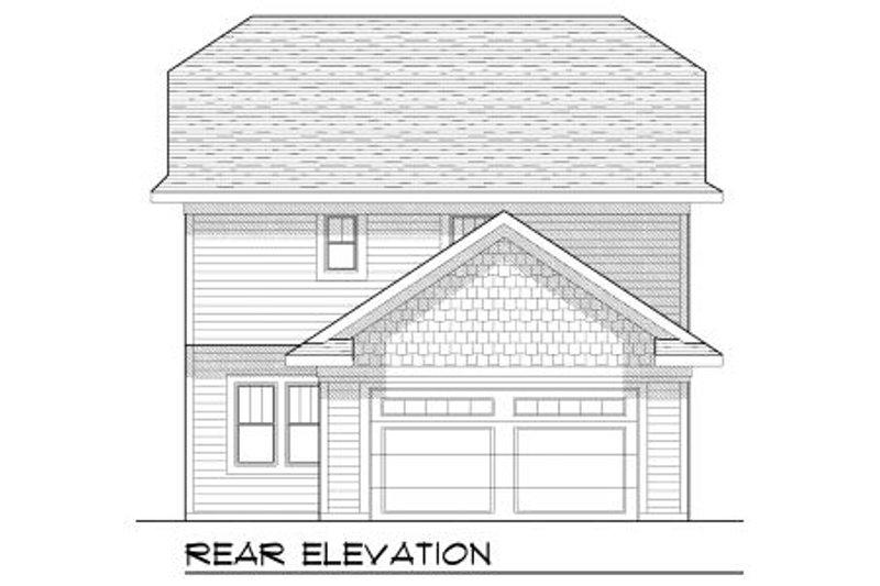 Craftsman Exterior - Rear Elevation Plan #70-968 - Houseplans.com