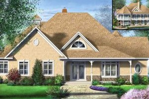 Traditional Exterior - Front Elevation Plan #25-4120