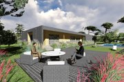 Modern Style House Plan - 3 Beds 2 Baths 2222 Sq/Ft Plan #549-14 Exterior - Rear Elevation