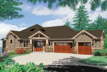 Dream House Plan - Craftsman Exterior - Front Elevation Plan #48-432
