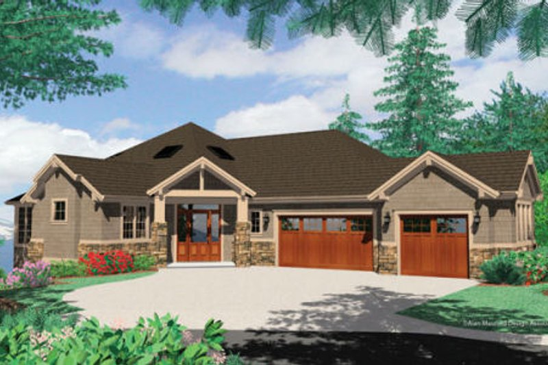Craftsman Exterior - Front Elevation Plan #48-432