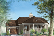 Country Style House Plan - 2 Beds 1 Baths 1146 Sq/Ft Plan #25-4652 Exterior - Front Elevation