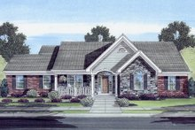 House Plan Design - Country Exterior - Front Elevation Plan #46-808