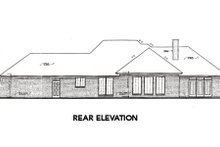 House Design - European Exterior - Rear Elevation Plan #310-309