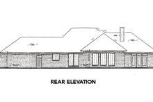 Architectural House Design - European Exterior - Rear Elevation Plan #310-309