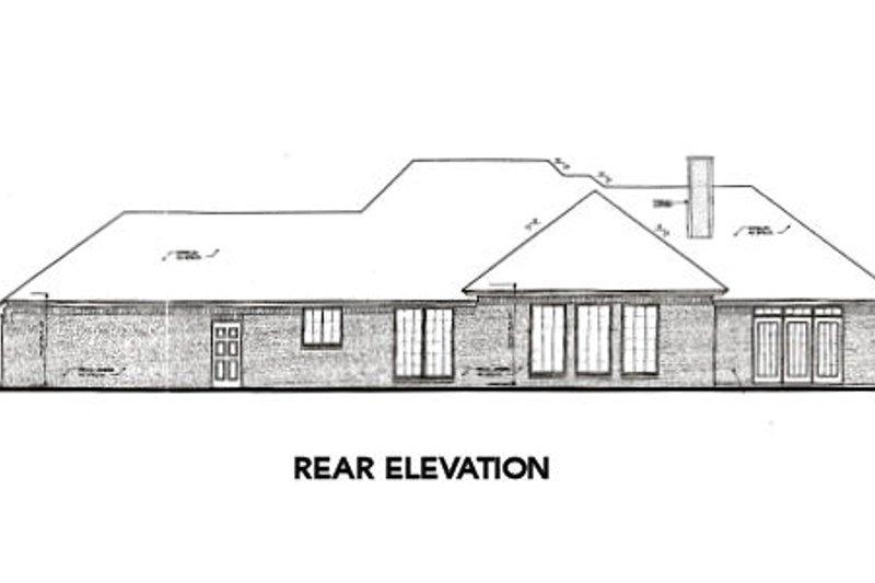 European Exterior - Rear Elevation Plan #310-309 - Houseplans.com