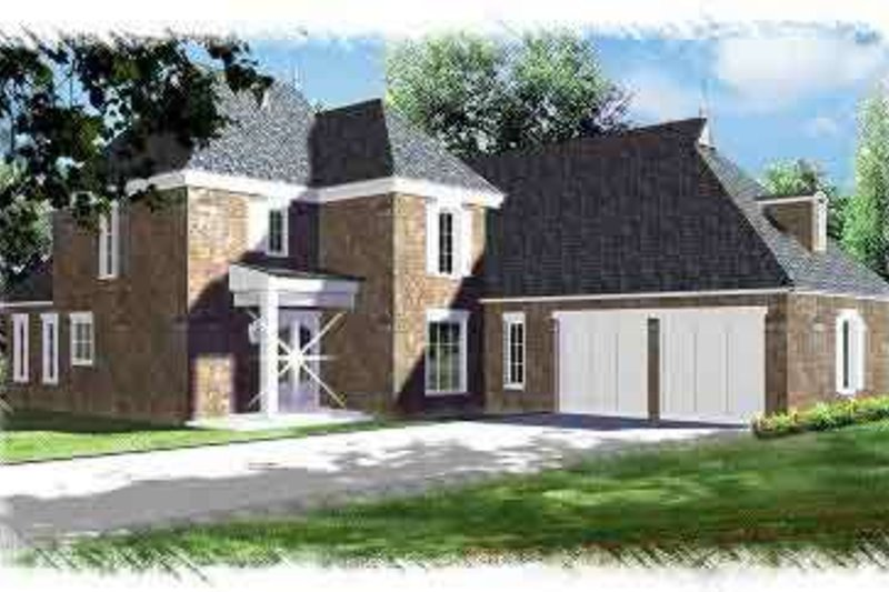 European Exterior - Front Elevation Plan #15-272