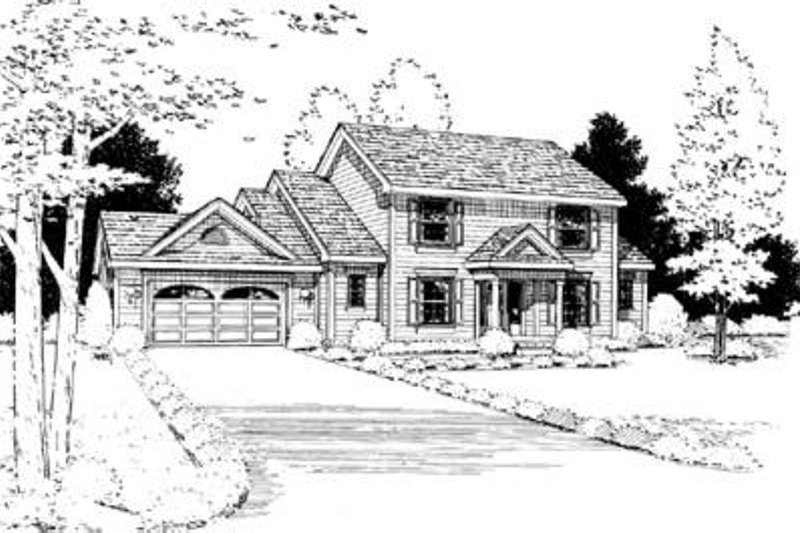 Traditional Exterior - Front Elevation Plan #20-899 - Houseplans.com