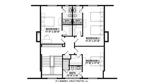 Country Floor Plan - Upper Floor Plan #928-12