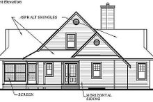 House Plan Design - Country Exterior - Other Elevation Plan #23-849