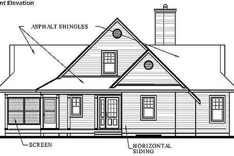 Country Exterior - Other Elevation Plan #23-849 - Houseplans.com