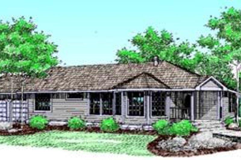 Ranch Exterior - Front Elevation Plan #60-410 - Houseplans.com