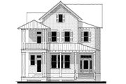 Beach Style House Plan - 4 Beds 3.5 Baths 3121 Sq/Ft Plan #464-15 Exterior - Front Elevation