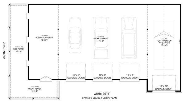 Country Floor Plan - Main Floor Plan Plan #932-211
