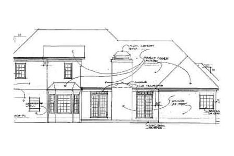 European Exterior - Rear Elevation Plan #56-196 - Houseplans.com