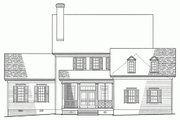 Colonial Style House Plan - 4 Beds 4.5 Baths 3020 Sq/Ft Plan #137-144 Exterior - Rear Elevation