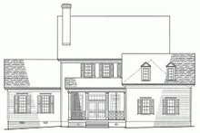 Colonial Exterior - Rear Elevation Plan #137-144