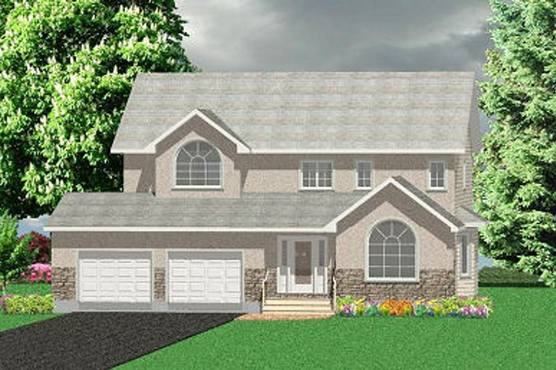 Farmhouse Style House Plan - 4 Beds 2.5 Baths 2492 Sq/Ft Plan #414-109 Exterior - Front Elevation