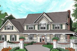 House Design - Farmhouse Exterior - Front Elevation Plan #11-229