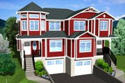 Victorian Style House Plan - 3 Beds 2.5 Baths 3690 Sq/Ft Plan #126-152 Exterior - Other Elevation