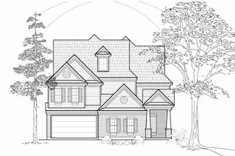 European Exterior - Front Elevation Plan #61-242 - Houseplans.com
