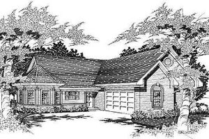 Traditional Exterior - Front Elevation Plan #329-168