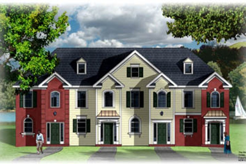 European Style House Plan - 2 Beds 1.5 Baths 4220 Sq/Ft Plan #26-224 Exterior - Front Elevation