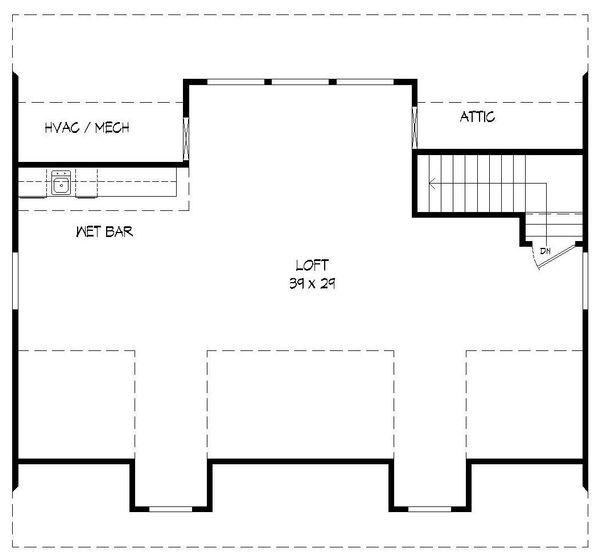 Country Floor Plan - Upper Floor Plan Plan #932-152