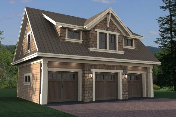 Craftsman Exterior - Front Elevation Plan #51-582