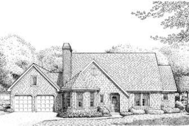 Dream House Plan - European Exterior - Front Elevation Plan #410-393