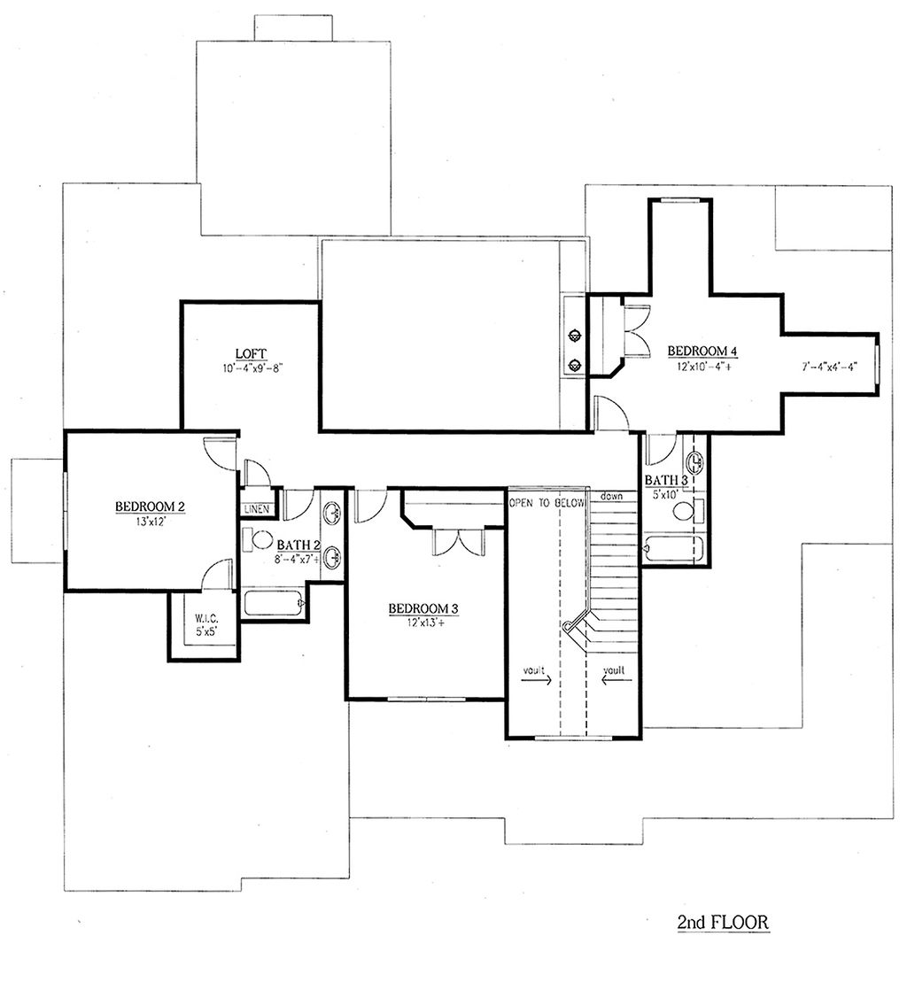 traditional style house plan 5 beds 4 5 baths 3187 sq ft plan