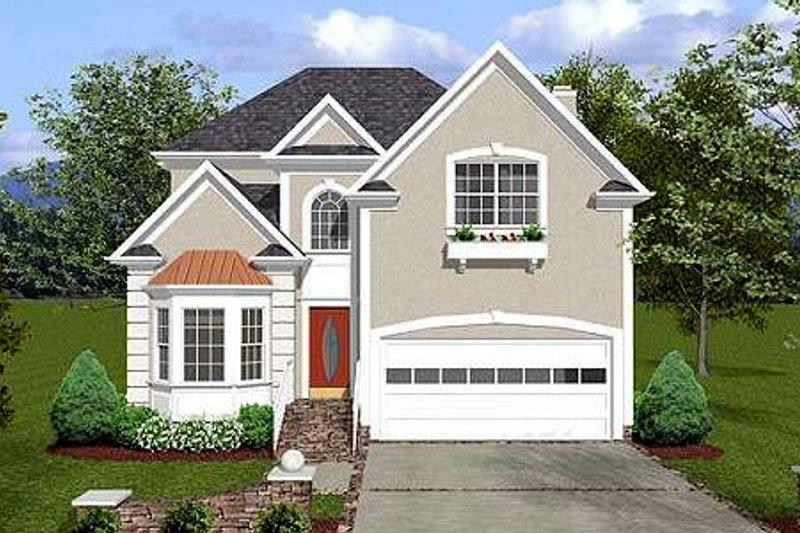 House Plan Design - European Exterior - Front Elevation Plan #56-154