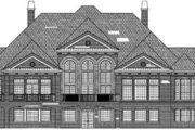 European Style House Plan - 4 Beds 4.5 Baths 5282 Sq/Ft Plan #119-119 Exterior - Rear Elevation