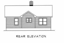 Home Plan - Country Exterior - Rear Elevation Plan #22-125