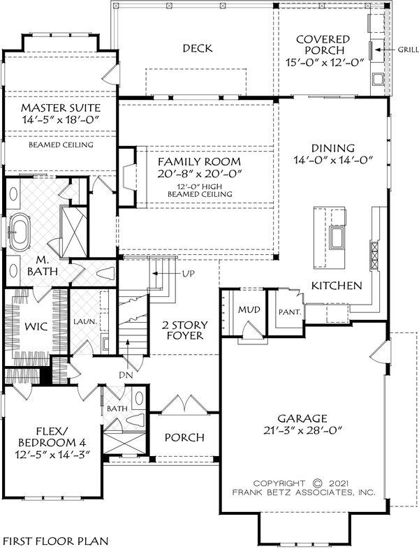 Dream House Plan - Farmhouse Floor Plan - Main Floor Plan #927-1026