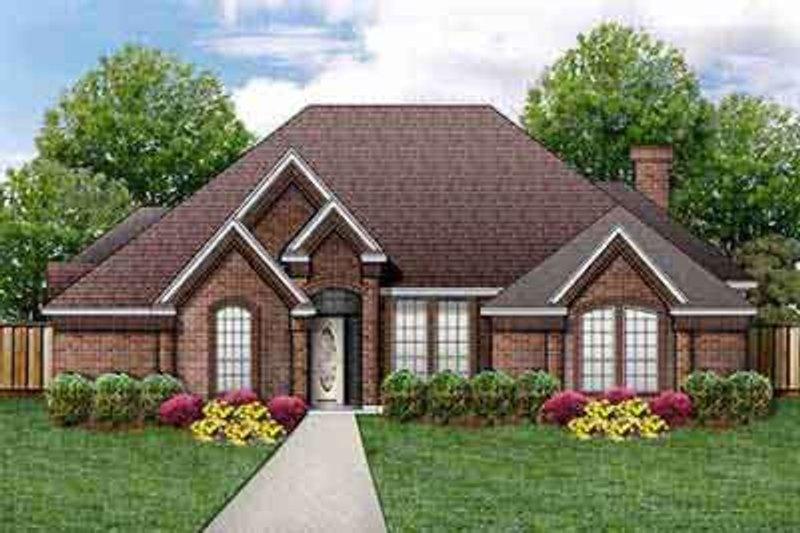 House Plan Design - European Exterior - Front Elevation Plan #84-197